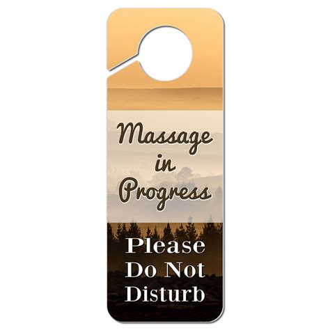 Do Not Disturb Door Knob Sign by Do Not Disturb Plastic Door Knob Hanger Sign In Progress
