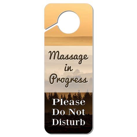 Do Not Disturb Door Knob Sign by Do Not Disturb Plastic Door Knob Hanger Sign In