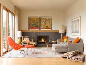 Mid century modern residence midcentury living room seattle by