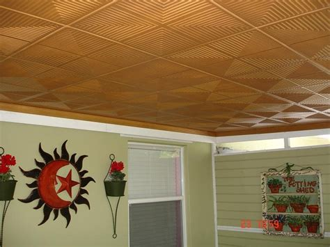 Patio Ceiling Panels by Styrofoam Ceiling Tiles Finished Projects Images Photo