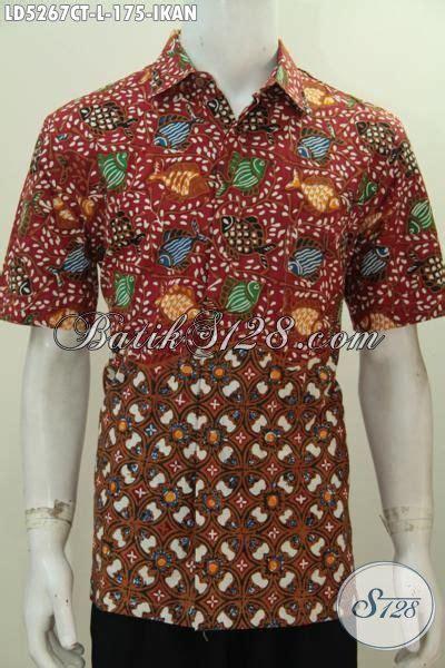 Batik Tulis Pria Motif Ikan baju batik motif ikan proses cap tulis pakaian santai