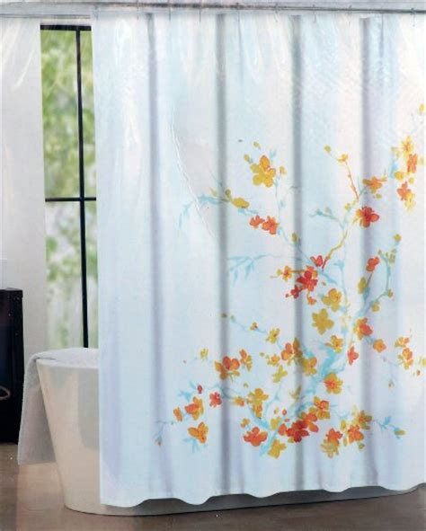 blue yellow shower curtain buy tahari fabric shower curtain blue orange yellow