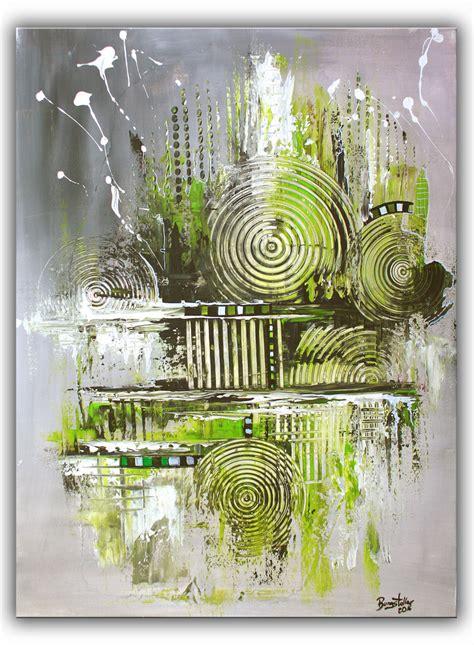 Moderne Acrylbilder Vorlagen navi abstrakte kunst gem 228 lde kaufen grau gr 252 n burgstaller