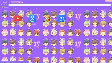kpop theme makers seventeen fan art chrome theme themebeta