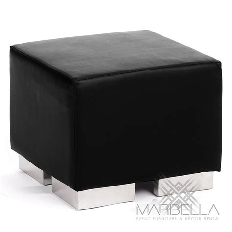 Black Square Ottoman Square Cube Ottoman White
