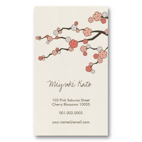 Cherry Blossom Business Card Template by 17 Best Images About Asian Zen Business Cards On