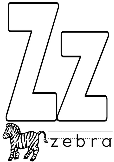 coloring book pages z letter z coloring pages to and print for free