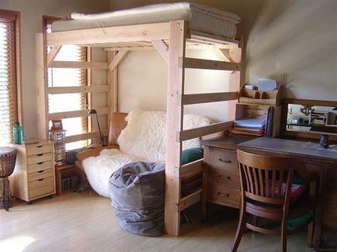 Diy Bedroom Loft by Pallet Loft Bed On Pallet Bunk Beds