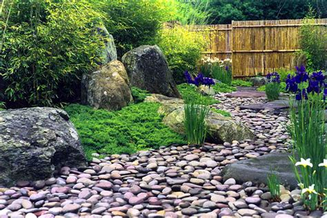 Rocks In Garden Beds Ideas Landscape Theme Showing Placement Rocks And Riverbed