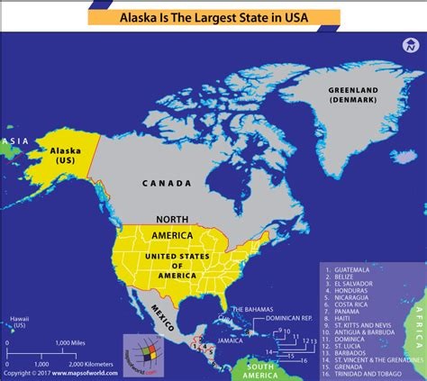 united states map in the world which is the largest state in the united states answers