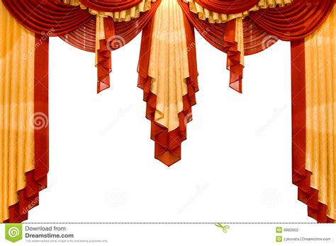 teatro tende a strisce with gold stage curtain stock photography image 6882652