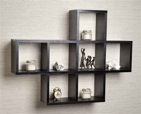 the compact of wall mounted cube shelves design home