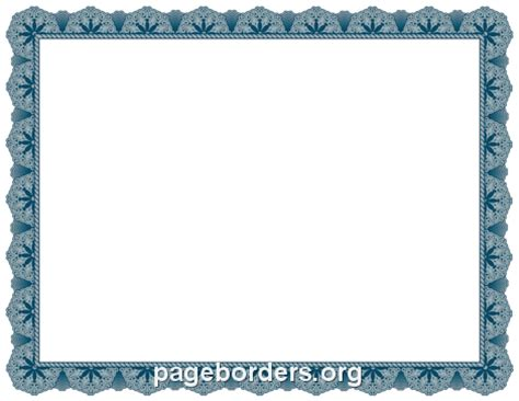blue certificate border pin free blue certificate borders on