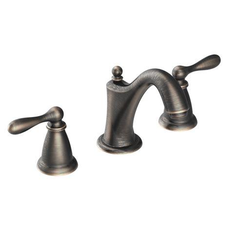 shop moen caldwell chrome 2 handle widespread watersense shop moen caldwell mediterranean bronze 2 handle