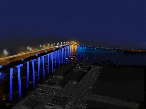 Light The San Diego moving toward lights on the san diego coronado bridge coronado times