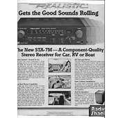 1980 Realistic STA 7M Stereo Receiver Ad Radio Shack Rolling Stone