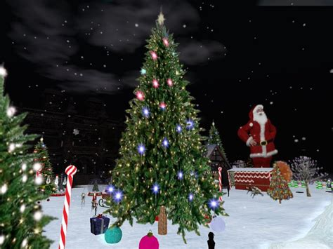 second life marketplace extra large christmas tree multi