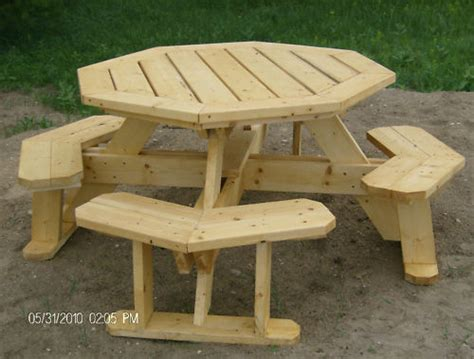 octagon picnic table plans easy to do ebay