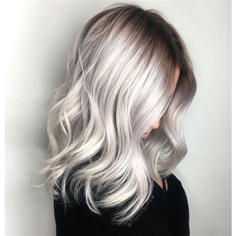 perfect shadow root on blonde hair color correction icy blonde shadow root behindthechair com