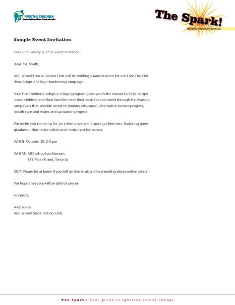 sample invitation letter for a business meeting smart letters