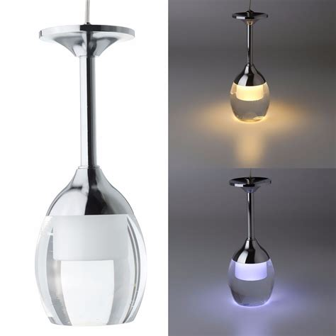Modern Led Wine Glass Ceiling Light Chandelier L Bar Pendant Light Fixtures