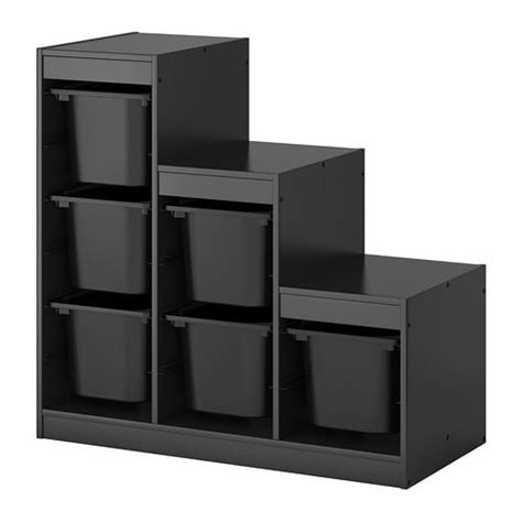 Ikea Storage Combination by Trofast Storage Combination With Boxes Black Ikea