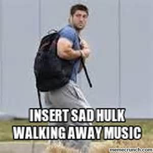 Walk Away Meme - insert sad hulk walking away music