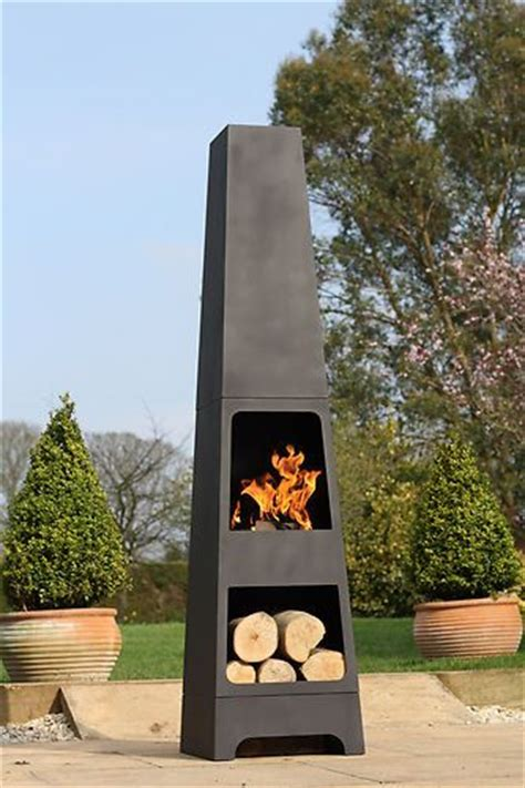 chiminea outdoor fireplace nz la hacienda malmo steel 150cm chiminea chimenea patio