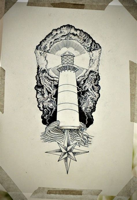 great lighthouse tattoo sketch tatueringar pinterest