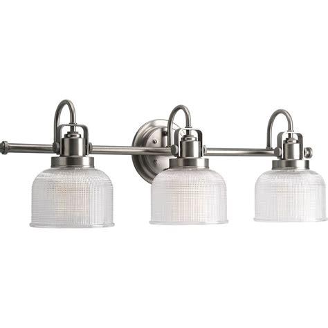 light bulb bathroom shop progress lighting archie 3 light 8 75 in antique