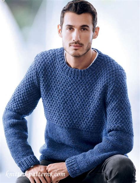 free knit pattern mens sweater men s sweater knitting pattern free