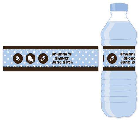 templates for water bottle labels baby shower how to create baby shower water bottle labels free