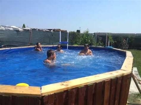 materials pallets swimming pool youtube