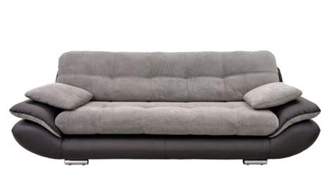 canap駸 fixes 3 places canape 3 places baggio 2 pu noir tissu gris