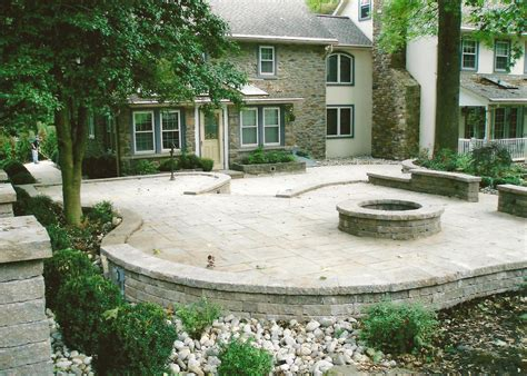 backyard hardscapes hardscape outdoor living area with fire pit and retaining