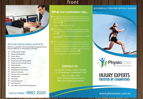magazine layout jobs australia brochure to advertise our unique physiotherapy clinic to
