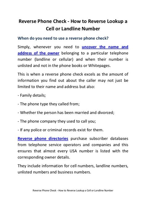 How Do You Lookup A Phone Number Phone Check How To Lookup A Cell Or Landline Number