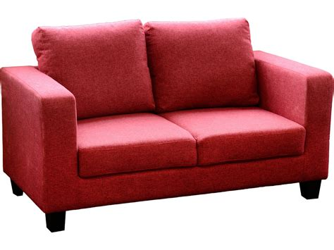 fabric settees seconique tempo 2 seater sofa in a box red fabric settee