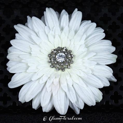 Wedding Hair Accessories Daisies by White Wedding Hair Clip With Rhinestone By