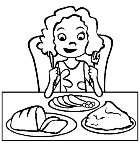free coloring pages of eat dinner