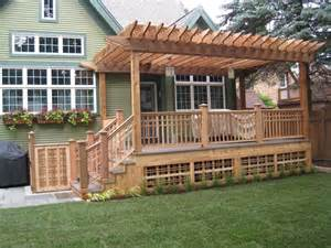 Deck Pergola Pictures by Deck Pergola Plans Woodwork