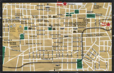 san jose tourist map maps update 820689 tourist attractions map in costa rica