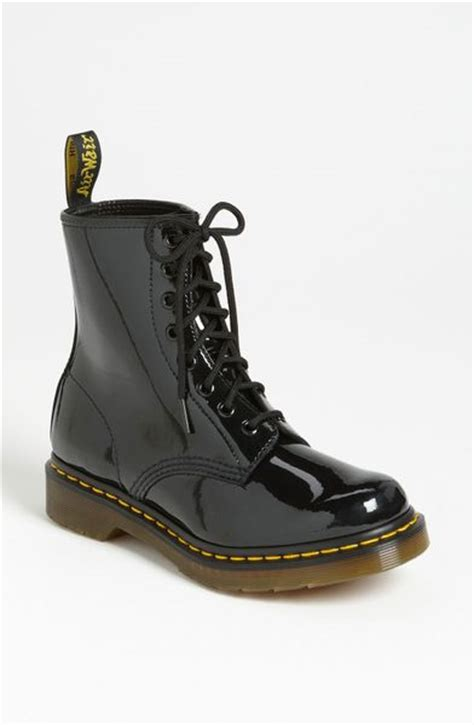 dr martens 1460 boot in black black patent leather lyst
