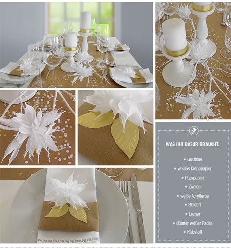 Tischdeko Verlobungsfeier by Diy Hochzeitsdeko Mit Papierbl 252 Ten In Wei 223 Und Gold