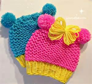 Loom knit minnie mouse hat pattern