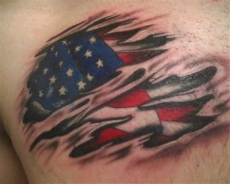 ripped flag tattoo 57 classic flag tattoos on chest