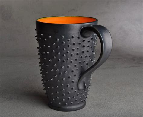 coolest coffe mugs tall spiky coffee mug made to order dangerously spiky travel