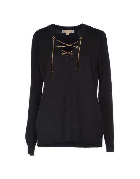 Michael Sweater Black Limited 1 michael michael kors sleeve sweater in black lyst