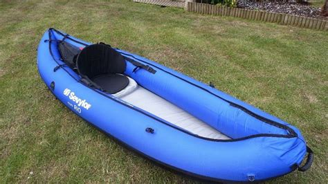 inflatable boat kent inflatable kayak sevylor rio 1 person canoe excellent