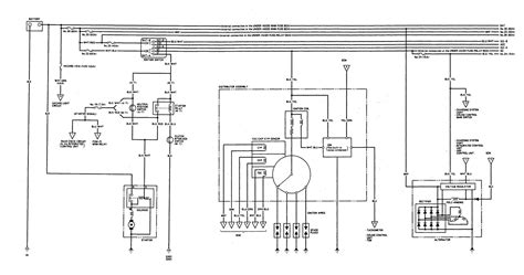 acura integra 1993 wiring diagrams charging system
